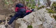 Dağlık alanda mahsur kalan Rus turistler jandarma tarafından kurtarıldı
