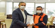 Mesleki yeterlilik sertifikalarını Başkan Uysal verdi