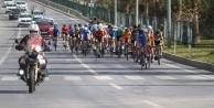 Alanya#039;da bisiklet yarışı yapıldı