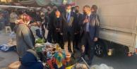 Alanya#039;da MHP#039;liler pazar esnafını ziyaret etti