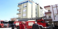 Antalya#039;da terasta korkutan yangın