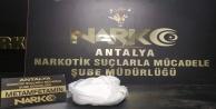 Antalyaya otobüsle 1 kilo metamfetamin getiren şahıs tutuklandı