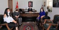 Kaymakam Ürkmezer#039;e Alanya Azerbaycanlılar Derneğinden ziyaret