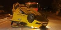 Ticarî taksi takla attı