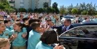 Başkan Böcek'ten iki okula birden müjde