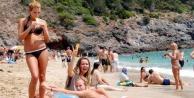 Rus turistin Türkiye mutluluğu