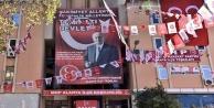 MHP Alanya'yı afişlerle donattı