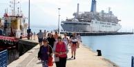 İngilizler Alanya'ya denizden geldi