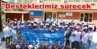 Alanya'daki okullara spor malzemesi yardımı