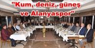 Alanyaspor Başkan Yücel'in onuruna yemek verdi