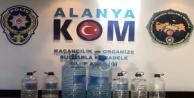 Alanya'da 13 işyerine kaçak içki baskını