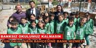 Alanya'da öğrencileri sevindiren bank projesi