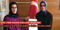 Alanya AKP kadın kolları başkanı belli oldu