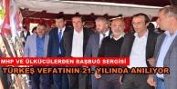 Alanya'da Türkeş için sergi açıldı