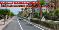 Alanya İstiklal Caddesi yenilendi
