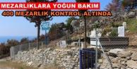 Büyükşehir'den mezarlık bakımı