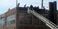 Restoran bacasında yangın çıktı