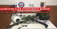 9 ayrı adrese eş zamanlı uyuşturucu operasyonu: 7 gözaltı
