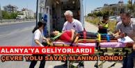 Alanya yolunda feci kaza: 4 yaralı var
