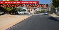 Oba'ya altyapı sonrası sıcak asfalt