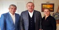 Çavuşoğlu AGC başkanına taziyeye gitti