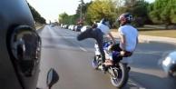 Alanya'da tek teker şovu yapan motosikletli dehşet saçtı
