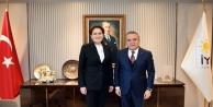 Büyükşehrin CHP adayı Böcek Akşener ile görüştü