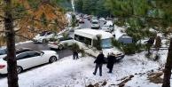 Alanya'da kar turizmi trafiği kilitledi