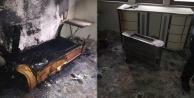 Alanya'da elektrik sobasından çıkan yangın ucuz atlatıldı!