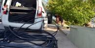 Alanya'daki kablo hırsızlarına polis engeli