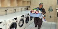 Çamaşırhanelere mahalleliden yoğun ilgi