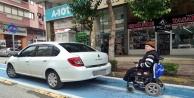 Engelli sürücünün park isyanı