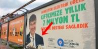 Türel'in afişlerine çirkin saldırı