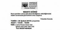 ADD Alanya'dan 'Mantı Günü'ne davet