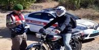 Alanya'da jandarma çalıntı motosikleti buldu!