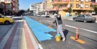Alanya'daki bisiklet yollarındaki son rötuşlar yapılıyor