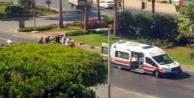 Alanya'daki feci kazada motosiklet sürücüsü yaralandı!
