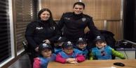 Rüzgar Gülü'nün miniklerinden polislere ziyaret