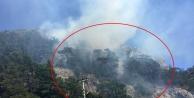 Olympos'ta yangın paniği!