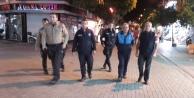 Alanya'da zabıta ve polis elele gece mesaisinde