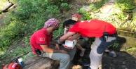 Kanyonda mahsur kalan turisti kurtarma operasyonu