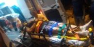 Balayı çiftinin otomobili uçuruma yuvarlandı