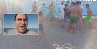Eşini dövdüğü iddia edilen kocaya sahilde meydan dayağı