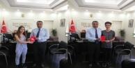 LGS Türkiye Şampiyonlarının Kaymakama ziyareti