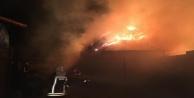 Alanya'da makinadan çıkan kıvılcım yangın çıkarttı