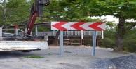 Alanya yaylalarında trafik levhaları yeniledi