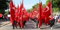 Polisi, askeri, jandarması, gazisi ve şehit yakınları 30 Ağustos için yürüdü