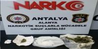 Alanya'da eve uyuşturucu baskını
