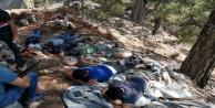 Antik kentte kaçak kazıya suçüstü: 7 gözaltı