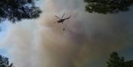 Kaş'taki orman yangını kontrol altına alınmaya çalışılıyor